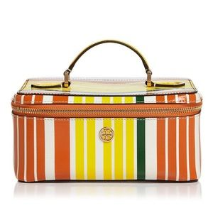 Tory Burch Robinson Large Striped Cosmetic Case